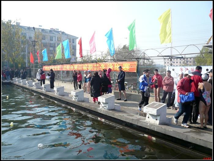 沈阳市第二届职工冬泳比赛 图片报道