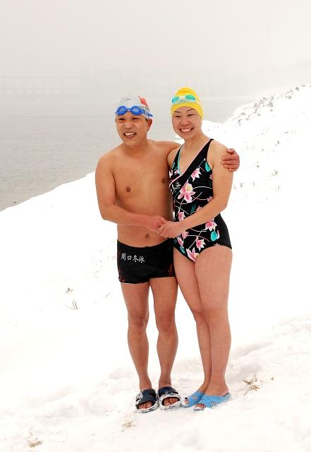 [原创]河南周口冬泳运动协会冬泳纪实 ---- 我冬泳我快乐 - 河南冬泳