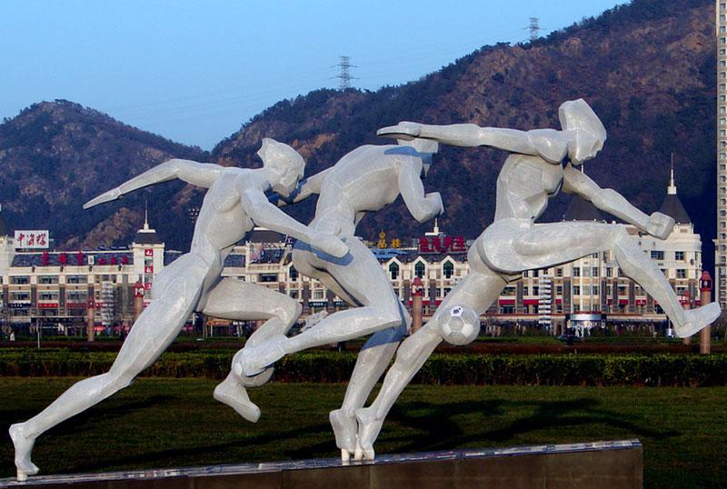 [原创]迎奥运(一组体育运动雕塑)-----摄影