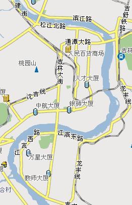 松花江电子地图,我们今天即将漂流的松花江区域