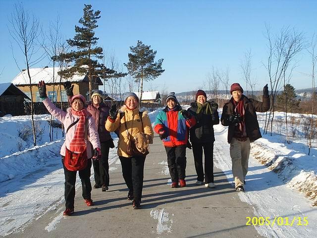 漠河 北极村/走在北极村犬道上,快乐无比