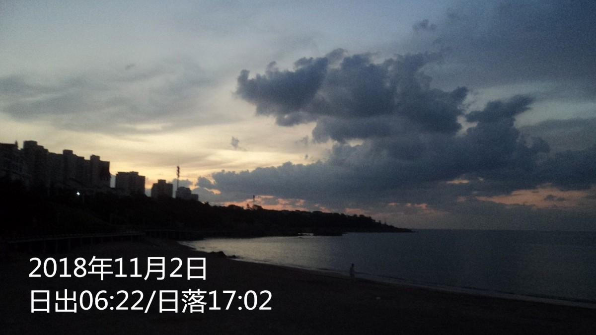 2018年11月2日青岛近海潮汐预报